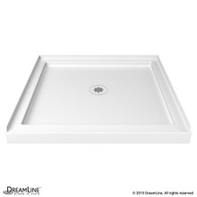DreamLine DLT-1142420 SlimLine 42 in. D x 42 in. W x 2 3/4 in. H Center Drain Single Threshold Shower Base in White