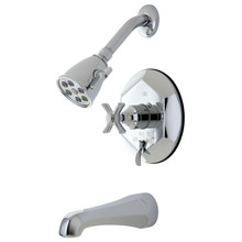 Kingston Brass VB46310ZX Single Handle Tub & Shower Faucet - Polished Chrome