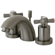 Kingston Brass KS2958ZX Two Handle Mini Widespread Lavatory Faucet - Satin Nickel