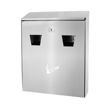 Alpine 490-01-SS Stainless Steel All-In-One Wall Mounted Cigarette Disposal Station