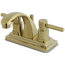 """Kingston Brass Two Handle 4"""" Centerset Lavatory Faucet with Brass Pop-Up Drain - Polished Brass KS4642DL"""