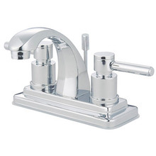 """Kingston Brass Two Handle 4"""" Centerset Lavatory Faucet with Brass Pop-Up Drain - Polished Chrome KS4641DL"""