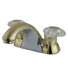 "Kingston Brass Two Handle 4"" Centerset Lavatory Faucet - Polished Brass KB2152LP"