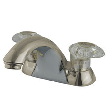 "Kingston Brass Two Handle 4"" Centerset Lavatory Faucet - Satin Nickel KB2158LP"