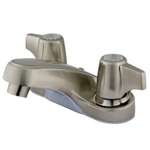 "Kingston Brass Two Handle 4"" Centerset Lavatory Faucet - Satin Nickel KB160SNLP"