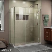 DreamLine E1243034-04 Unidoor-X 60 in. W x 34 3/8 in. D x 72 in. H Hinged Shower Enclosure in Brushed Nickel