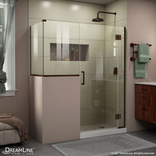 DreamLine E124303436-06 Unidoor-X 60 in. W x 36 3/8 in. D x 72 in. H Frameless Hinged Shower Enclosure in Oil Rubbed Bronze