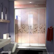 DreamLine SHDR-1160726-04 Visions 56-60 in. W x 72 in. H Semi-Frameless Sliding Shower Door in Brushed Nickel