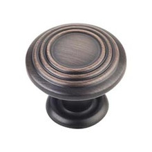 "Hardware Resources 110DBAC 1-1/4"" Diameter Spiral Cabinet Knob - Screws Included - Brushed Oil Rubbed Bronze"
