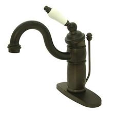 Kingston Brass Single Handle Mono Deck Lavatory Faucet with Pop-Up Drain Drain & Optional Deck Plate - Oil Rubbed Bronze KB1405PL