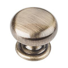 "Hardware Resources 2980AB 1-1/4"" Diameter Cabinet Knob - Screws Included - Brushed Antique Brass"