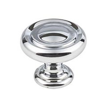 "Hardware Resources 117PC 1-1/4"" Diameter Button Cabinet Knob - Screws Included - Polished Chrome"