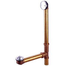 """Kingston Brass DLL3181 18"""" Tub Waste & Overflow With Lift & Turn Drain - Polished Chrome"""