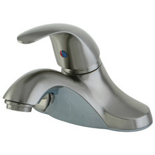 Kingston Brass Single Handle Lavatory Faucet with Pop-Up Drain - Satin Nickel KB6548LL