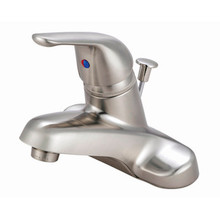 Kingston Brass Single Handle Lavatory Faucet with Pop-Up Drain - Satin Nickel KB548