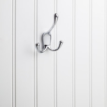 """Hardware Resources YT40C-400PC 4"""" Triple Zinc Concealed Mount Decorative Coat and Hat Hook - Screws Included - Polished Chrome"""