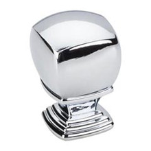 "Hardware Resources 188L-PC 1"" Overall Length Cabinet Knob - Screws Included - Polished Chrome"