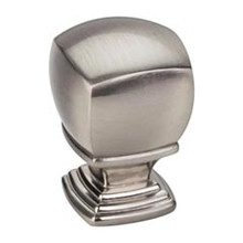 "Hardware Resources 188L-SN 1"" Overall Length Cabinet Knob - Screws Included - Satin Nickel"