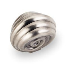 """Hardware Resources 415BNBDL 1-3/8"""" Overall Length Cabinet Knob - Screws Included - Brushed Pewter"""