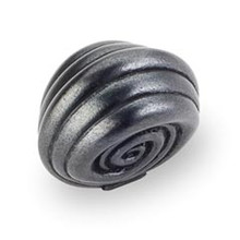"""Hardware Resources 415DACM 1-3/8"""" Overall Length Cabinet Knob - Screws Included - Gun Metal"""