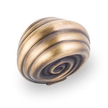 """Hardware Resources 415ABSB 1-3/8"""" Overall Length Cabinet Knob - Screws Included - Antique Brushed Satin Brass"""
