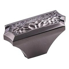 """Hardware Resources 457L-BN 2"""" Overall Length Hammered Texture Cabinet Knob - Screws Included - Black Nickel"""