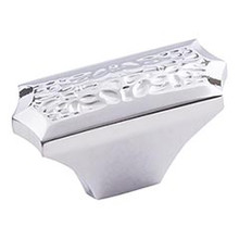 """Hardware Resources 457L-PC 2"""" Overall Length Hammered Texture Cabinet Knob - Screws Included - Polished Chrome"""