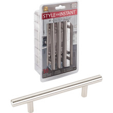 """Hardware Resources 154SS-R 10-Pack of 154mm (6-1/16"""") Overall Length 7/16"""" Diameter Hollow Stainless Steel Cabinet Pulls with Beveled Ends - 96 mm center-to-center - Screws Included"""