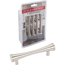 """Hardware Resources 400SN-R 10-Pack of 4"""" Overall Length Cabinet Bar Pulls - 3"""" center-to-center- - Screws Included - Satin Nickel"""