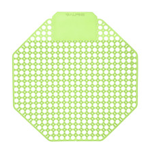 Alpine 4111-CM Urinal Screen - Pack of 10 - Cucumber Melon Scented - Green