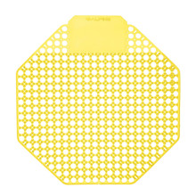 Alpine 4111-MANGO Urinal Screen - Pack of 10 - Mango Scented - Yellow