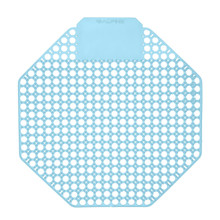 Alpine 4111-OM Urinal Screen - Pack of 10 - Ocean Mist Scented - Blue
