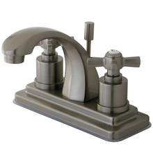 Kingston Brass KS4648ZX Two Handle Centerset Lavatory Faucet - Satin Nickel