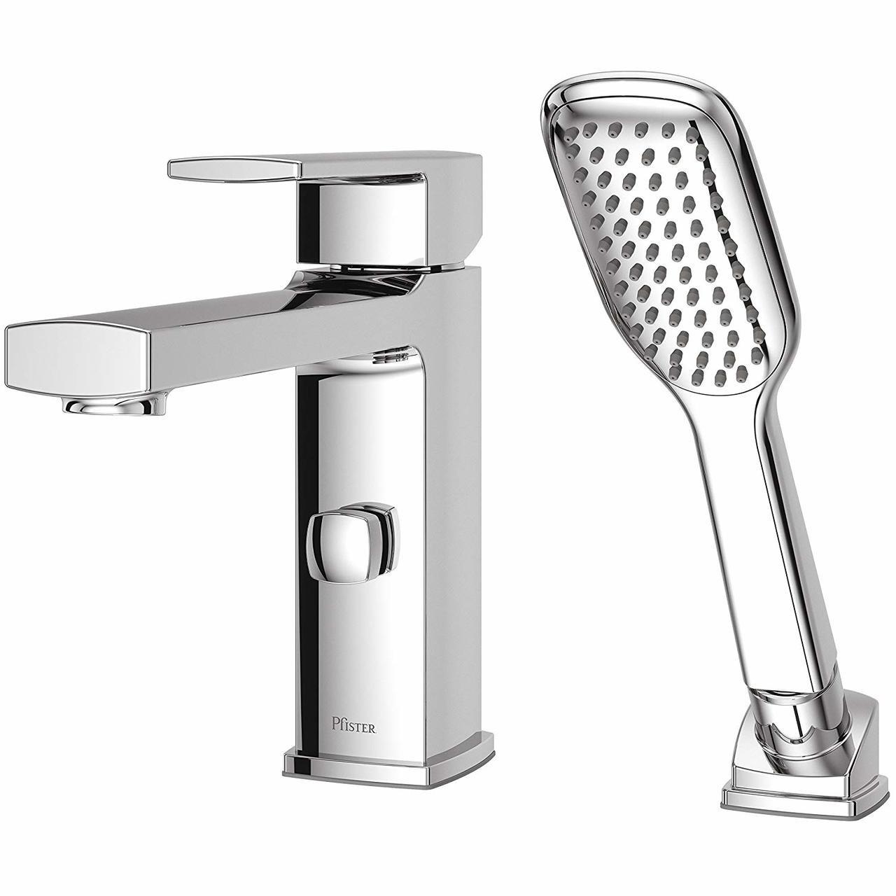 Pfister Rt6 2dac Deckard Single Handle Roman Tub Faucet Trim With Handshower Chrome