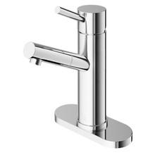 VIGO VG01009CHK1 Noma Single Hole Bathroom Faucet With Deck Plate In Chrome
