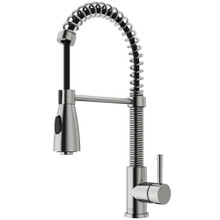 VIGO VG02003ST Brant Pull-Down Spray Kitchen Faucet In Stainless Steel
