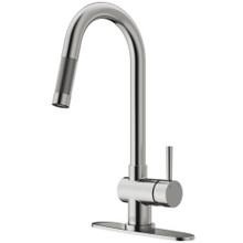 VIGO VG02008STK1 Gramercy Pull-Down Kitchen Faucet With Deck Plate In Stainless Steel