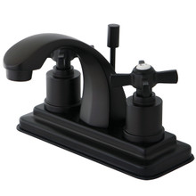 Kingston Brass KS4645ZX Two Handle Centerset Lavatory Faucet - Oil Rubbed Bronze