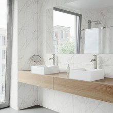 VIGO VG04001 Dianthus Matte Stone Vessel Bathroom Sink