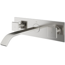 VIGO VG05002BN Titus Wall Mount Bathroom Faucet In Brushed Nickel