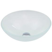 VIGO VG07043 White Frost Glass Vessel Bathroom Sink