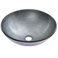 VIGO VG07053 Simply Silver Glass Vessel Bathroom Sink