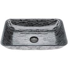 VIGO VG07085 Rectangular Titanium Glass Vessel Bathroom Sink