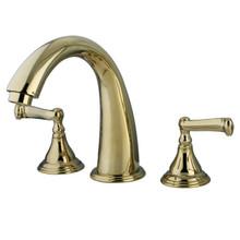 Kingston Brass Two Handle Roman Tub Filler Faucet - Polished Brass KS5362FL
