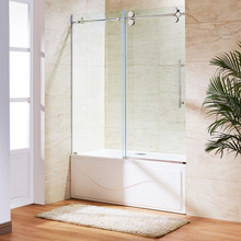 VIGO VG6041CHCL6066 Elan Frameless Adjustable Sliding Tub Door