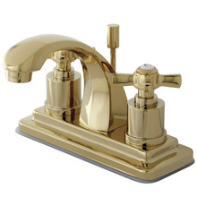 Kingston Brass KS4642ZX Two Handle Centerset Lavatory Faucet - Polished Brass