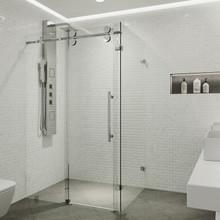 VIGO VG6051CHCL48 Winslow Frameless Sliding Door Shower Enclosure