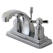 Kingston Brass KS4641ZX Two Handle Centerset Lavatory Faucet - Polished Chrome