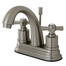 Kingston Brass KS8618ZX Two Handle Centerset Lavatory Faucet - Satin Nickel