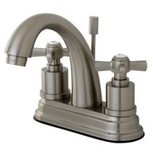 Kingston Brass KS8618ZX Two Handle Centerset Lavatory Faucet - Satin Nickel